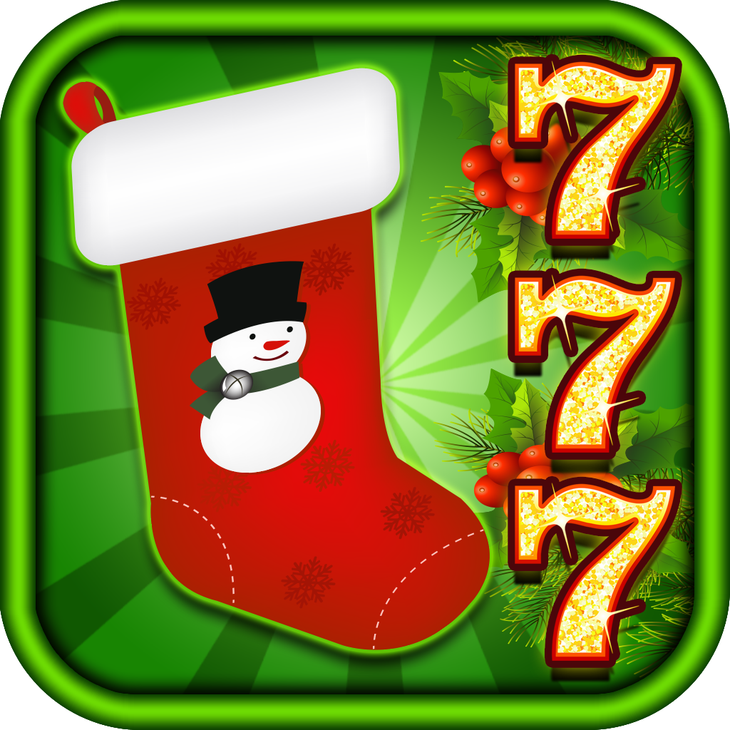 A Christmas Winter Wonderland Stocking Casino Slots Machine - Spin the Prize Wheel, Play Black Jack & Roulette